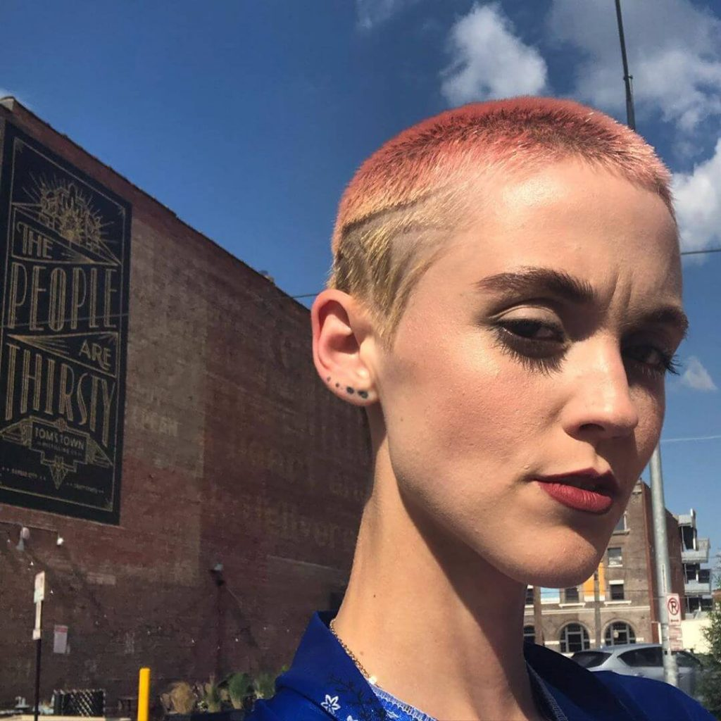 Shaved Design Genderless Buzz Cut for Square Shaped Faces