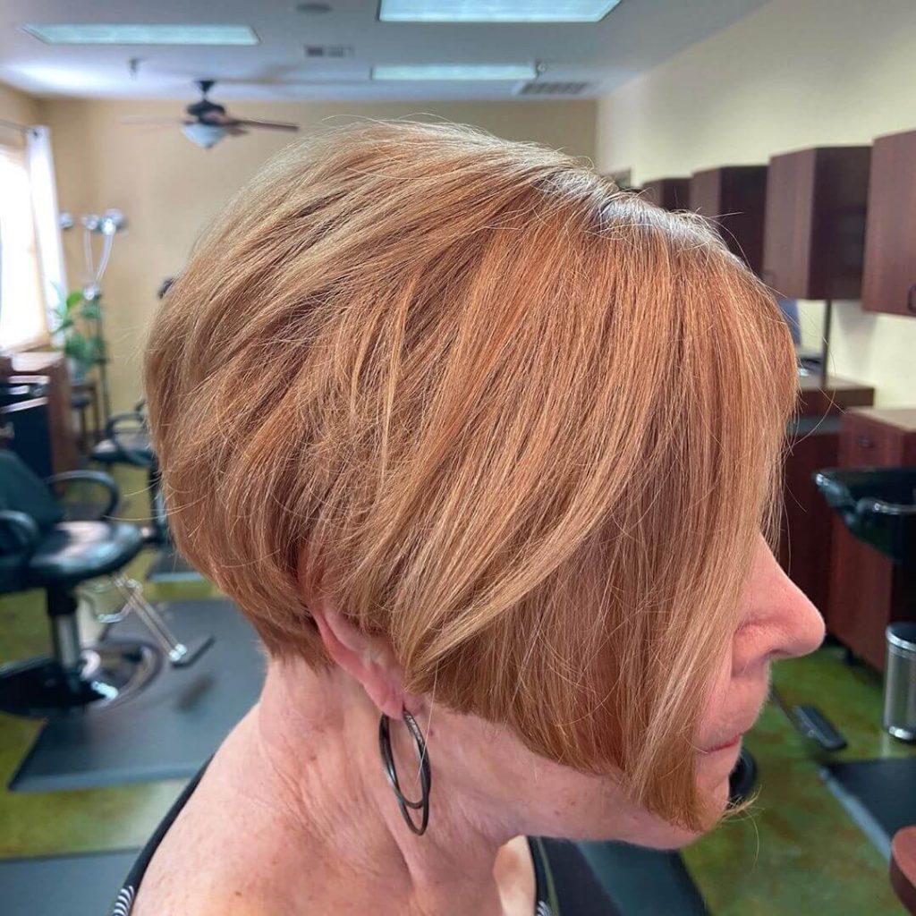Short A-line Bob Layered Haircut