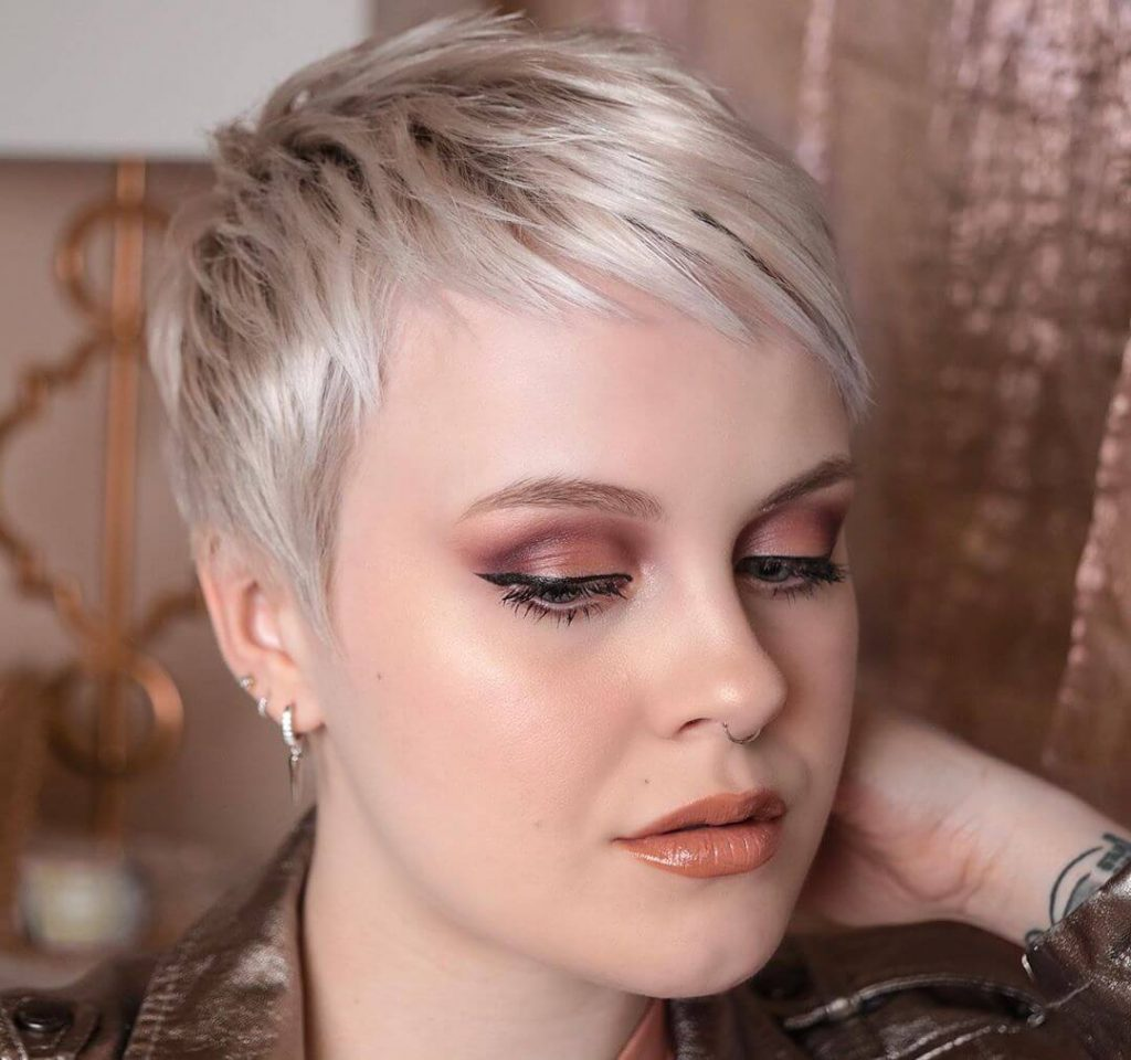 Short Pixie Cut with Textured Layers for Square Shaped Faces