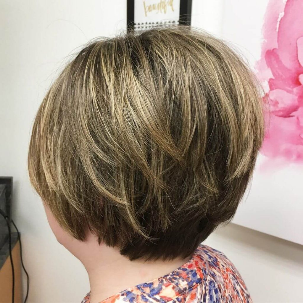 Stacked Bob Haircut for Fine Hair and Round Faces