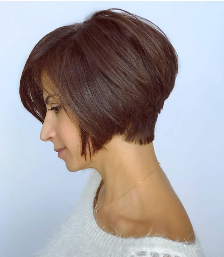 Two Layer Stacked Bob Haircut and Undercut