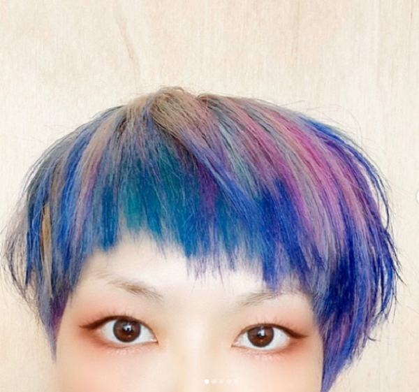 Colorful Bowl Cut Hairstyle for Asian Women