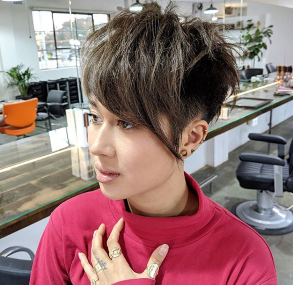 Layered Pixie Haircut for Asian Women