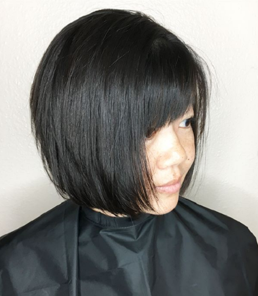 Straight-Layered-Short-Haircut-with-Fringe