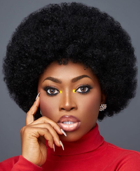 Afro Short Hairstyle for Diamond Faces