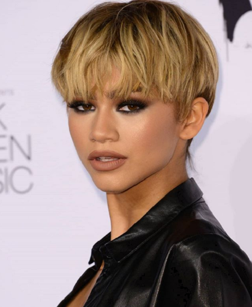 Bowl Cut with Fringe for Black Women