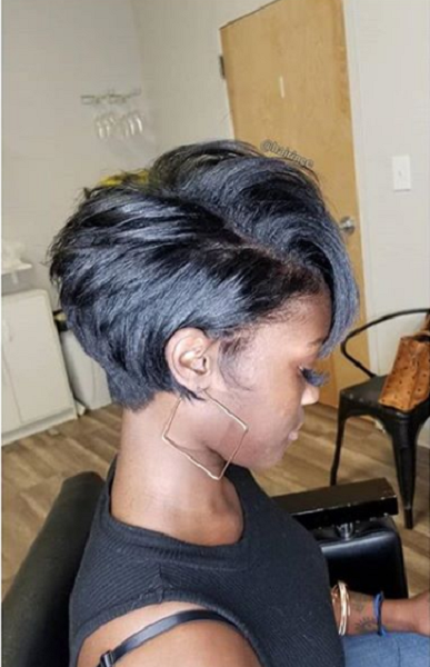 Layered Pixie Hairstyle for Black Women