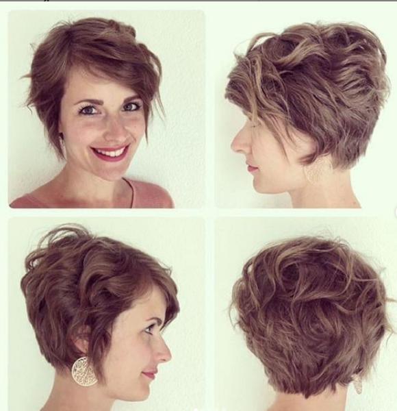 Long Wavy Pixie Haircut for Diamond Faces