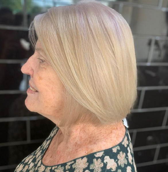 Sleek Middle-Parted Bob Haircut