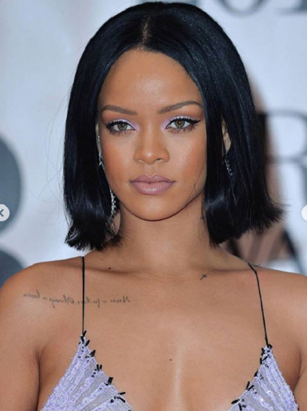 Straight Middle-Parted Bob Hairstyle for Black Women