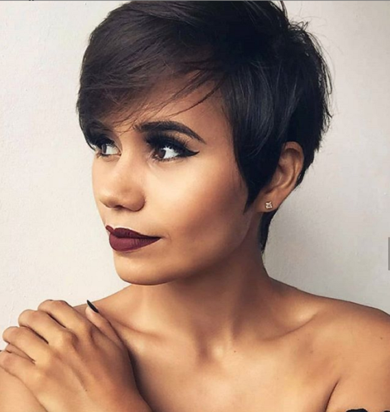 Straight Side-Parted Pixie Haircut for Diamond Faces