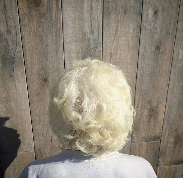 Voluminous Bob Hairstyle for Older Women