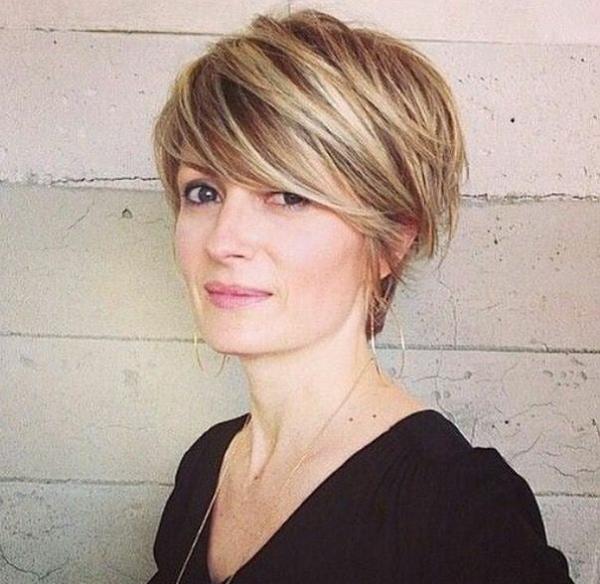 Voluminous Pixie Haircut for Diamond Faces