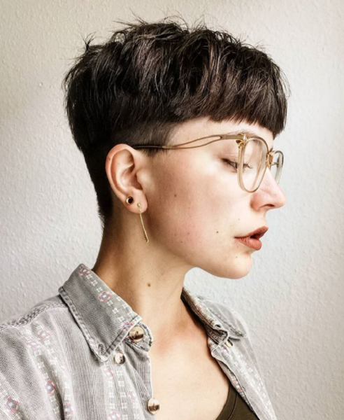 Super Short Bowl Cut with Nape and Side Undercut
