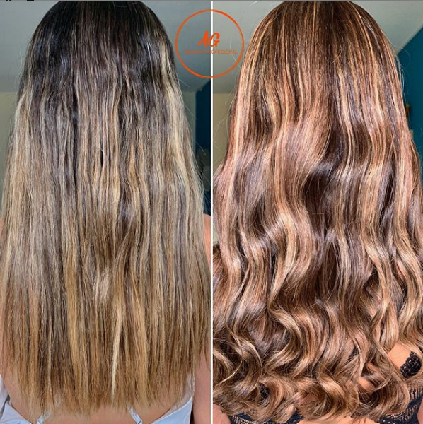 Chocolate Brown Shade with Blonde Baby Highlights