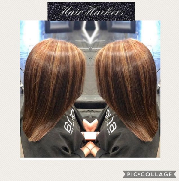 Chocolate Brown Shade with Reddish Roots