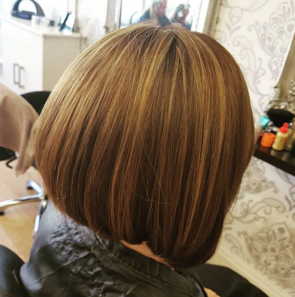 Chocolate Brown Shade with Subtle Blonde Highlights