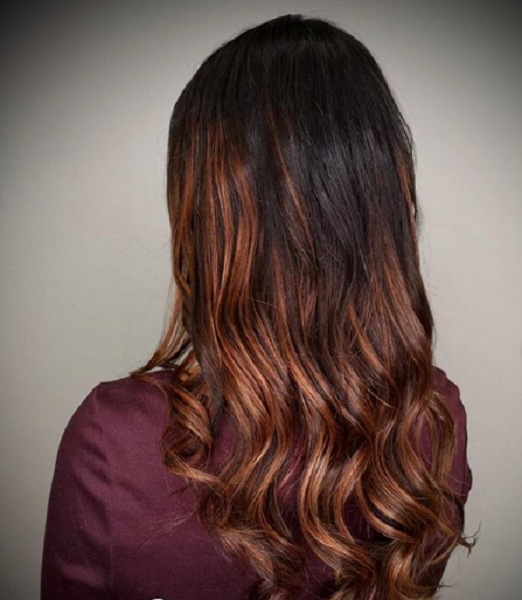 Dark Chocolate Brown Shade with Red Ends