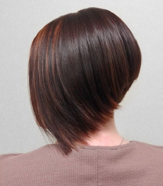 Dark Chocolate Brown Shade with Rose Gold Highlights