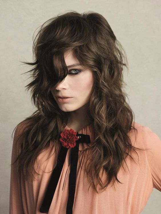 Edgy Side-Parted Layered Haircut