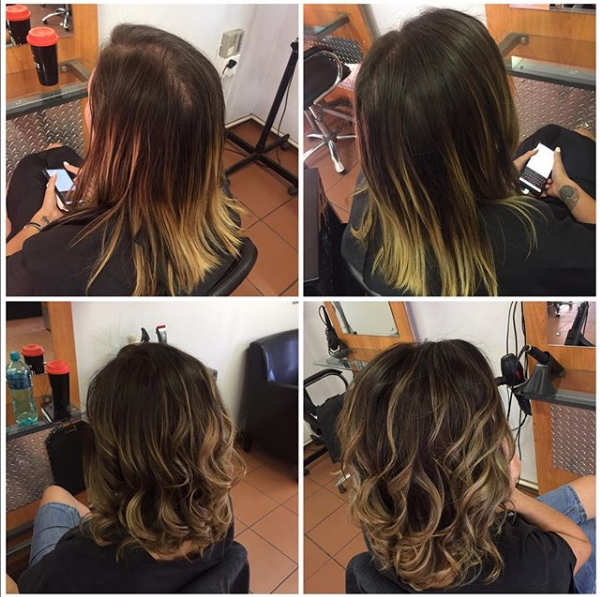 Light Chocolate Brown Shade with Blonde Ends