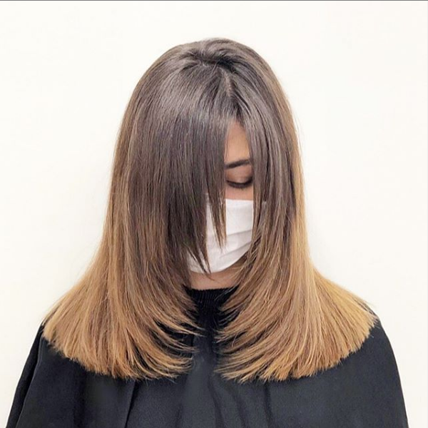 Side-Parted Sleek Layered Haircut with Lighter Ends