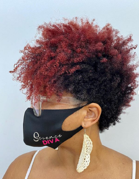 Two-Colors Super Curly Pixie Cut