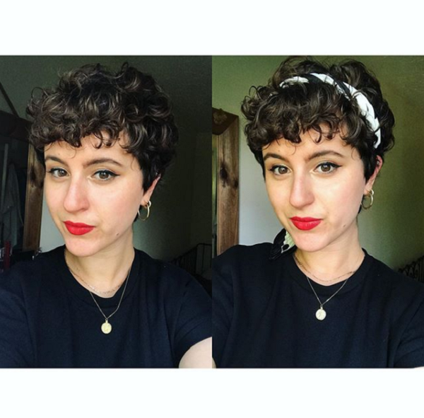 Vintage Curly Pixie with Headband