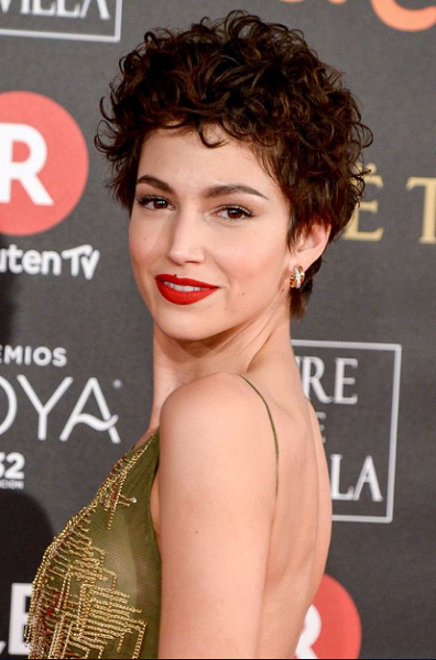 Curly Pixie Cut with Sleek Sides