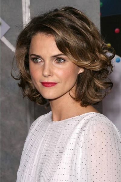 Elegant Side-Parted Wavy Short Hair