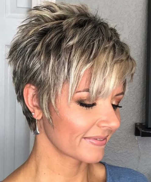 Straight Layered Pixie Cut