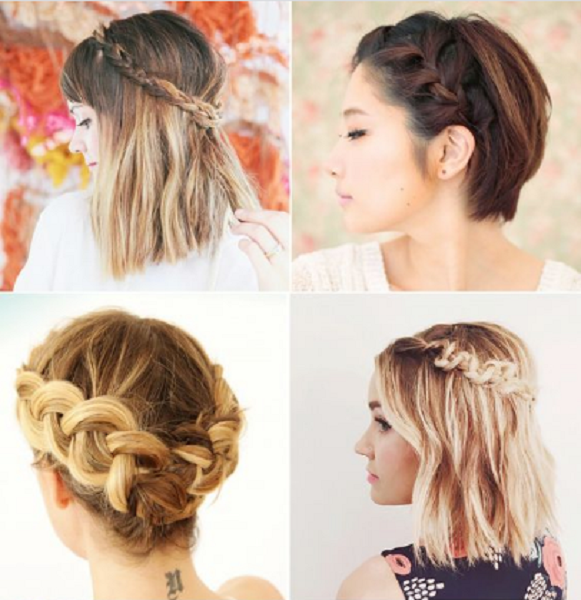 Braided Hairstyles with Medium and Short Hair (4 styles)