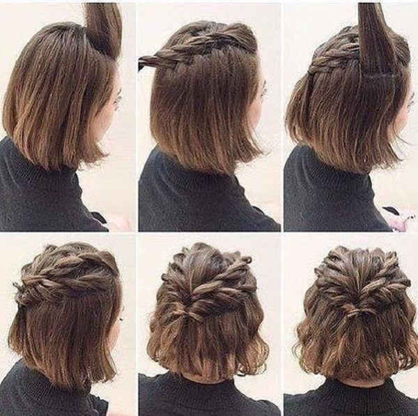 Double Braided Half Up Half Down Wavy Hairstyle