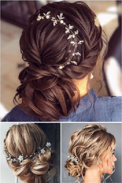 Elegant Messy Up Dos with Accessories (3 styles)