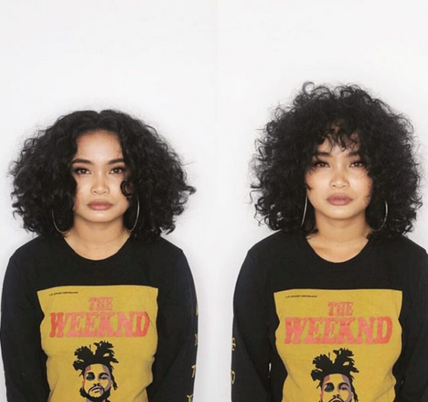 Fluffy Curly Short Hairstyles (with and without bangs)