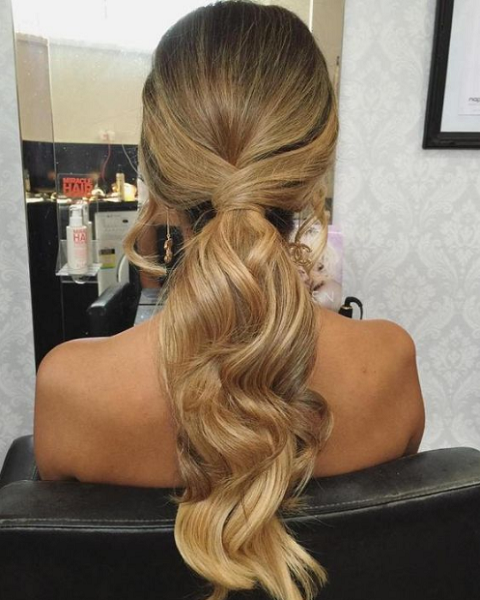 Formal Low Twisted Ponytail