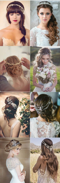 Long Bridal Updos and Hairstyles with Crown Accessories (8 styles)