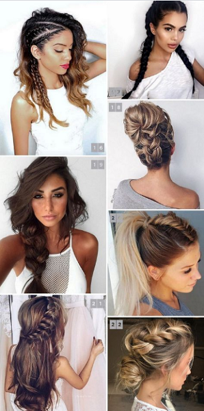 Messy Braided Hairstyles and Up Dos (7 styles)