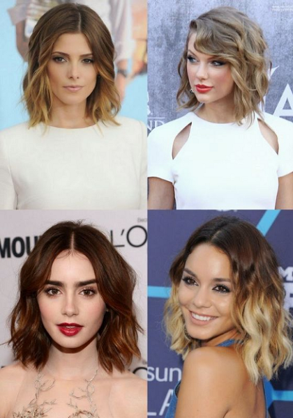Middle- and Side-Parted Wavy Long Bob (4 styles)