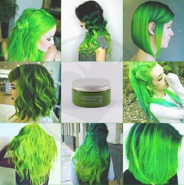 Neon Green Hair Color Variations (8 ideas)