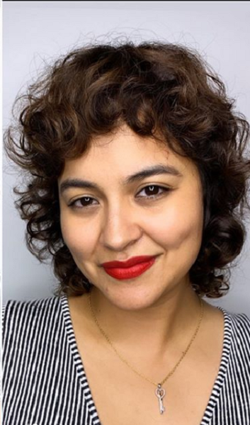 Short Curly Hairstyle with Curly Baby Bangs