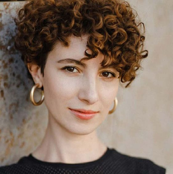 Side-Parted Curly Pixie Cut