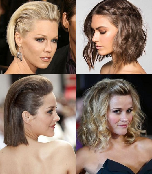 Slicked-Back and Wavy Short Hairstyles (4 styles)