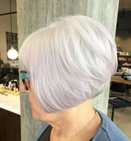 Straight Angled Bob Cut with Blunt Bangs