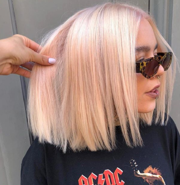 Straight Middle-Parted Bob Cut