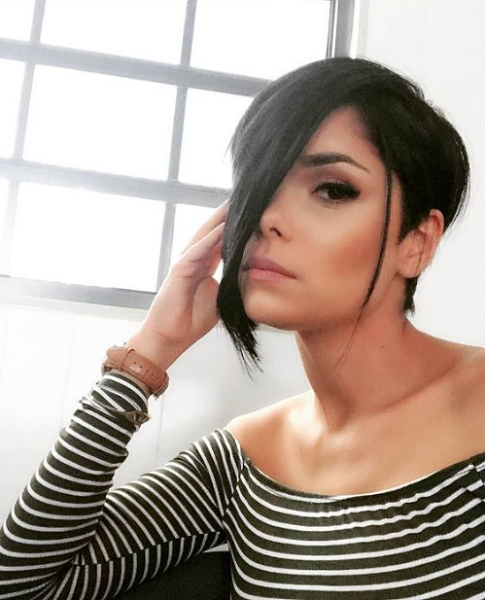 Straight Pixie Cut with Long Side Part