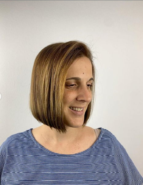 Straight Side-Parted Bob Cut