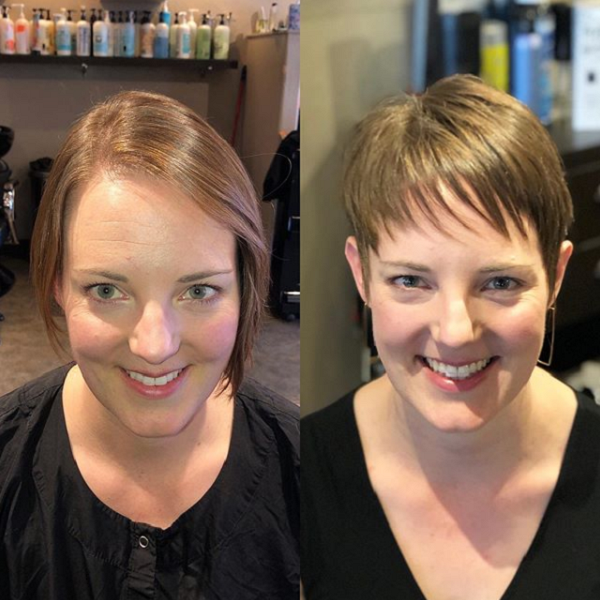 Straight Side-Parted Short Hairstyle & Pixie Cut for Thin Hair (2 styles)