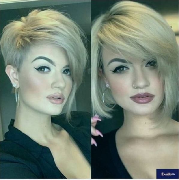 Straight Voluminous Side-Parted Pixie Cut and Bob (2 styles)