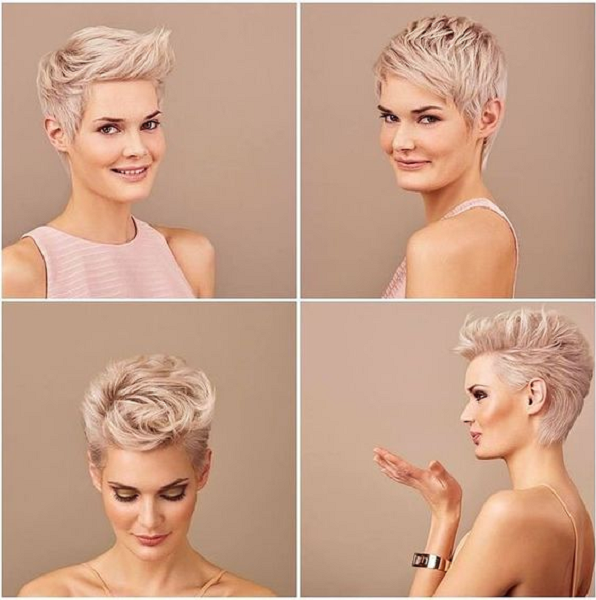 Super Short Layered Pixie Cuts (4 styles)